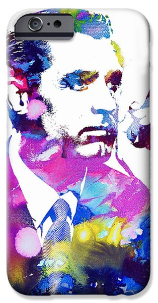 Films By Alfred Hitchcock iPhone Cases - Cary Grant iPhone Case by Michael Braham