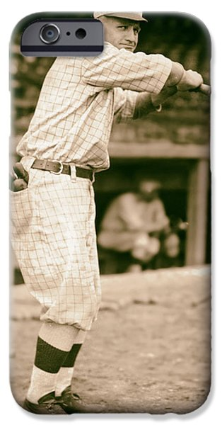 Casey iPhone Cases - Casey Stengel 1915 iPhone Case by Mountain Dreams