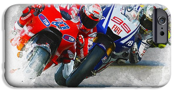 Abstract Digital iPhone Cases - Casey Stoner iPhone Case by Don Kuing