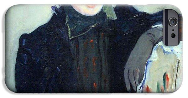 Cora Wandel iPhone Cases - Cassatts Portrait Of An Elderly Lady iPhone Case by Cora Wandel