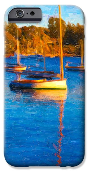 Cape Cod Mixed Media iPhone Cases - Cat Boat iPhone Case by Michael Petrizzo