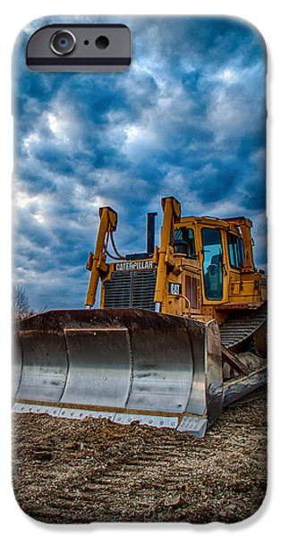 Construction Equipment iPhone Cases - Cat Bulldozer iPhone Case by Mike Burgquist