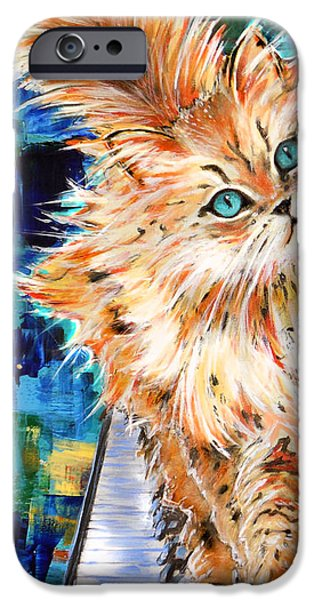 Piano iPhone Cases - Cat iPhone Case by Melanie D