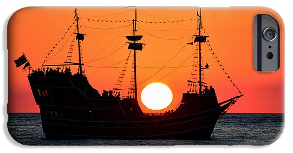 Pirate Ship iPhone Cases - Catching the sun iPhone Case by David Lee Thompson