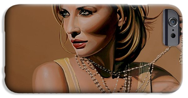 Celebrities Art iPhone Cases - Cate Blanchett iPhone Case by Paul Meijering