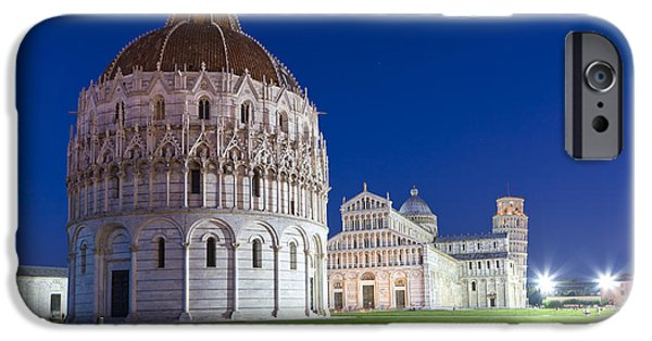 The Duomo iPhone Cases - Cathedral and The Leaning Tower iPhone Case by Sebastian Wasek