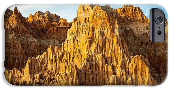 Cathedral Rock iPhone Cases - Cathedral Gorge Sunset - Nevada iPhone Case by Gary Whitton