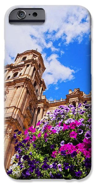 Incarnation iPhone Cases - Cathedral in Malaga iPhone Case by Karol Kozlowski