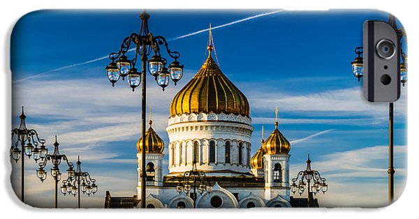 Russian Cross iPhone Cases - Cathedral of Christ the Savior Of Moscow - Russia iPhone Case by Alexander Senin