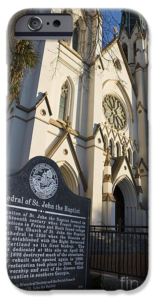 United States iPhone Cases - Cathedral of St. John the Baptist Savannah iPhone Case by Jason O Watson