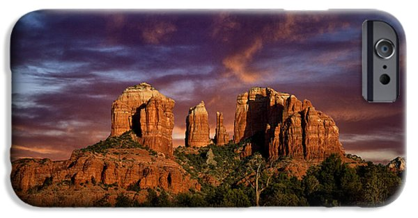 Cathedral Rock iPhone Cases - Cathedral Rock iPhone Case by Diana Powell