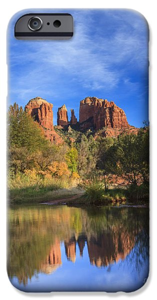 Cathedral Rock iPhone Cases - Cathedral Rock iPhone Case by Medicine Tree Studios