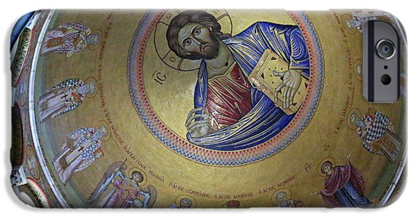 Christ In Majesty iPhone Cases - Catholicon iPhone Case by Stephen Stookey