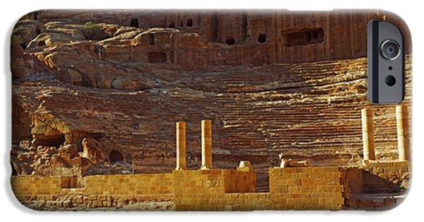 Jordan iPhone Cases - Cave Dwellings, Petra, Jordan iPhone Case by Panoramic Images