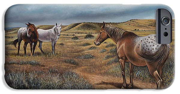 Quarter Horses iPhone Cases - Cayuse Country iPhone Case by Ricardo Chavez-Mendez