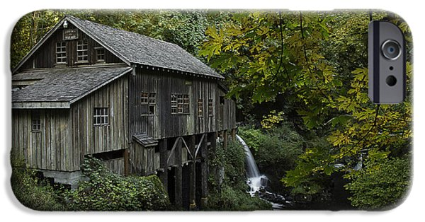 Grist Mill iPhone Cases - Cedar Creek Grist Mill iPhone Case by George Herbert
