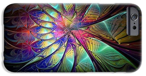 Floral Digital Art Digital Art iPhone Cases - Celebration iPhone Case by Amanda Moore