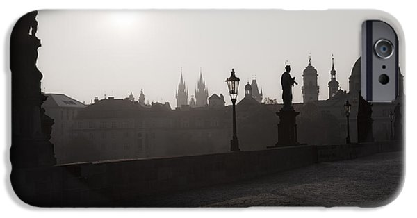 Charles River iPhone Cases - Charles Bridge Prague iPhone Case by Maria Heyens