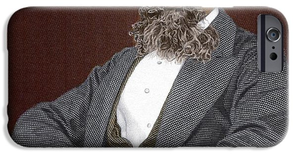Recently Sold -  - David iPhone Cases - Charles Dickens, British Author iPhone Case by Sheila Terry