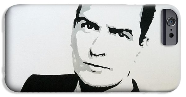 Best Buy Mixed Media iPhone Cases - Charlie Sheen iPhone Case by Venus