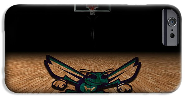 Dunk iPhone Cases - Charlotte Hornets iPhone Case by Joe Hamilton