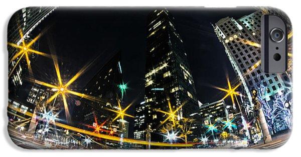 Clt iPhone Cases - Charlotte Nc Usa - Nightlife Around Charlotte iPhone Case by Alexandr Grichenko