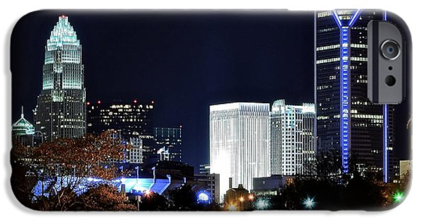 Charlotte iPhone Cases - Charlotte Towers iPhone Case by Frozen in Time Fine Art Photography