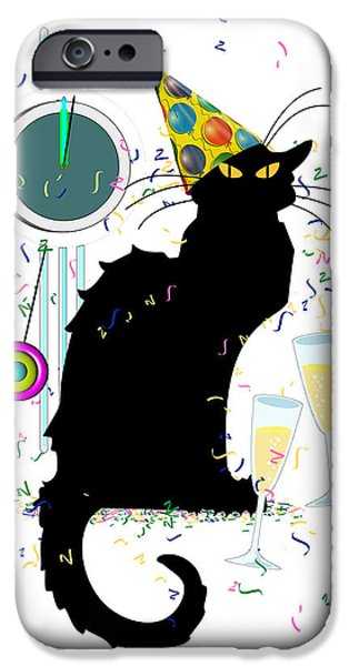 Spoof iPhone Cases - Chat Noir New Years Party Countdown iPhone Case by Gravityx9  Designs