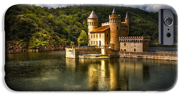 Castle iPhone Cases - Chateau de la Roche iPhone Case by Debra and Dave Vanderlaan