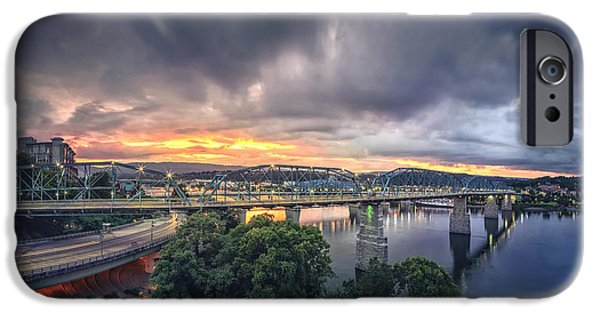 Recently Sold -  - River iPhone Cases - Chattanooga Sunset 4 iPhone Case by Steven Llorca
