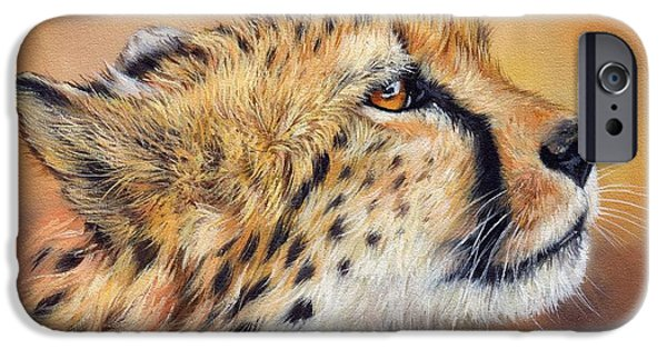 David iPhone Cases - Cheetah iPhone Case by David Stribbling