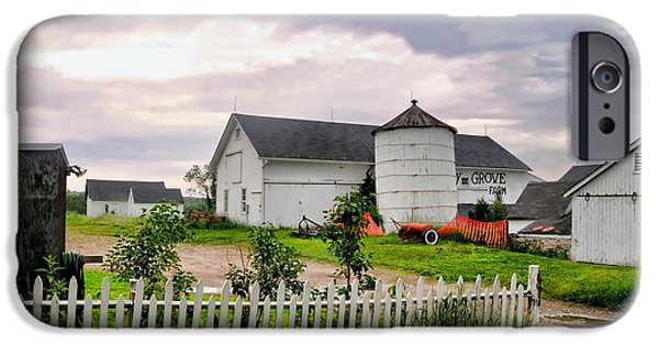 Connecticut Farm iPhone Cases - Cherry Grove Farm iPhone Case by Diana Angstadt