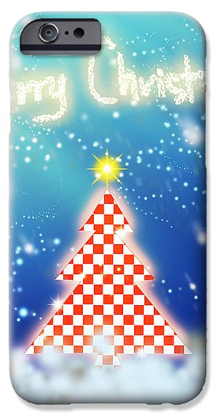 chess style christmas tree iPhone Case by ATIKETTA SANGASAENG