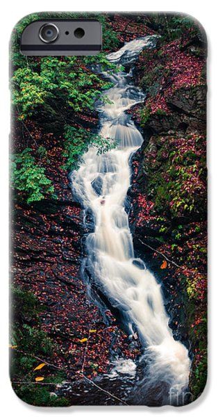 Peacefull iPhone Cases - Chesterfield Gorge New Hampshire iPhone Case by Edward Fielding