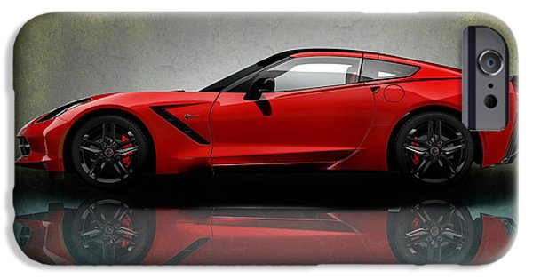 Muscle iPhone Cases - Chevrolet Corvette Stingray iPhone Case by Mark Rogan