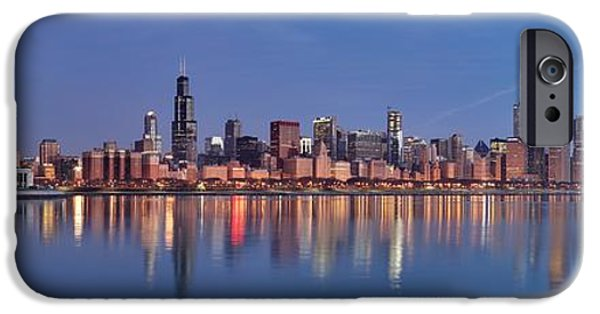 Willis Tower iPhone Cases - Chicago City Skyline iPhone Case by Nomad Art And  Design