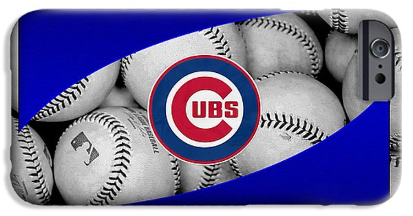 Cubs iPhone Cases - Chicago Cubs iPhone Case by Joe Hamilton