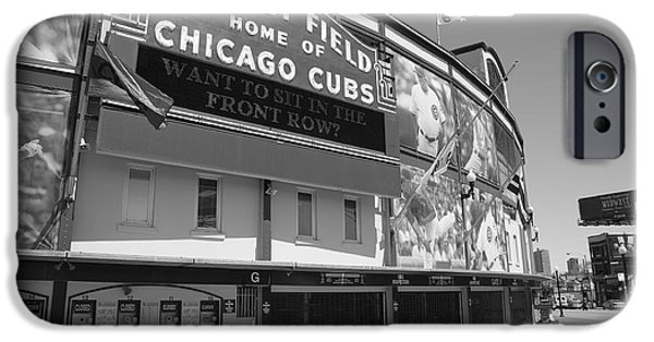 Wrigley iPhone Cases - Chicago Cubs - Wrigley Field 17 iPhone Case by Frank Romeo