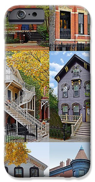 Historic Home iPhone Cases - Chicago historic Old Town Triangle iPhone Case by Christine Till