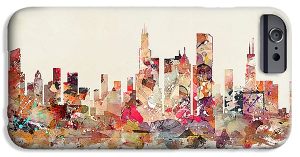 Chicago Paintings iPhone Cases - Chicago Illinois  iPhone Case by Bri Buckley