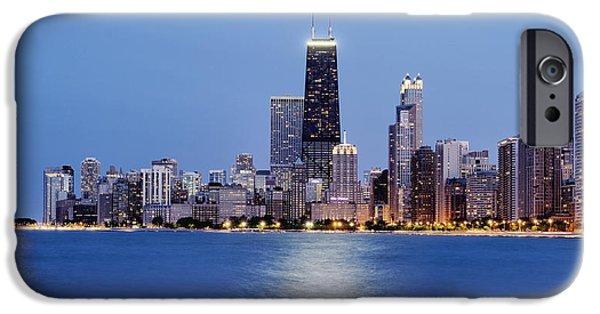 Schwartz Digital iPhone Cases - Chicago Oak Street Beach iPhone Case by Donald Schwartz