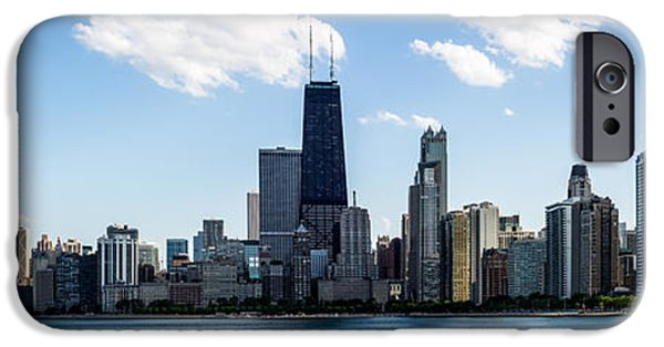 Hancock Building iPhone Cases - Chicago Panorama Skyline iPhone Case by Paul Velgos