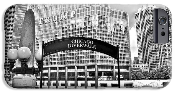 Wrigley Field iPhone Cases - Chicago Riverwalk iPhone Case by Frozen in Time Fine Art Photography