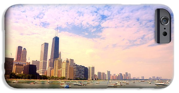 iPhone Cases - Chicago skyline iPhone Case by Alexey Stiop