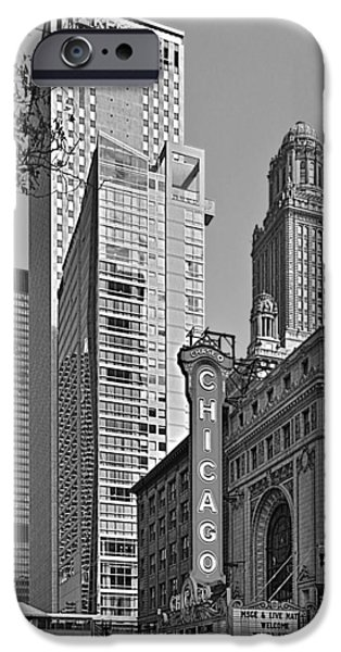 Interior Scene iPhone Cases - Chicago Theatre - This theater exudes class iPhone Case by Christine Till