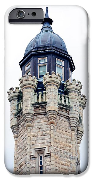 Old Chicago Water Tower iPhone Cases - Chicago Water Tower iPhone Case by Songquan Deng