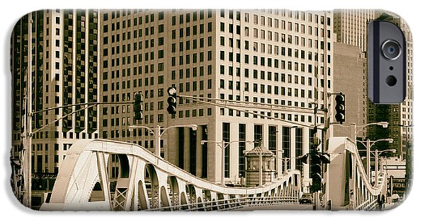 Historic Downtown Franklin iPhone Cases - Chicagos Bascule Bridge 1986 iPhone Case by Mountain Dreams