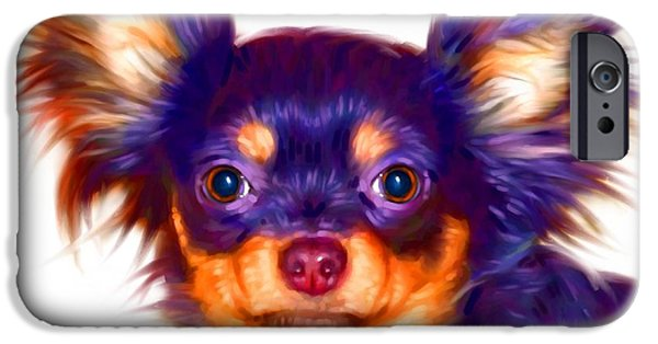 Cute Puppy Pictures Digital Art iPhone Cases - Chihuahua Art iPhone Case by Iain McDonald