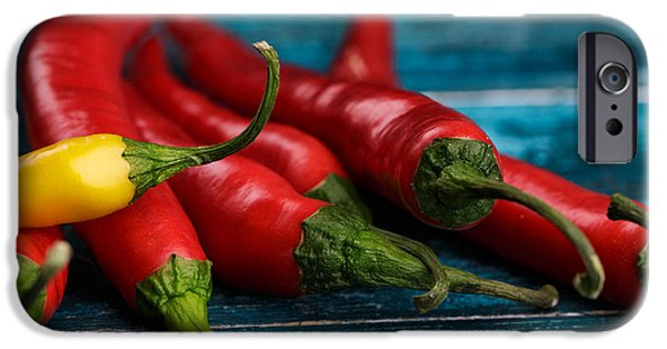 Chili iPhone Cases - Chili Peppers iPhone Case by Nailia Schwarz