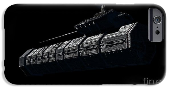 Copy Machine Digital Art iPhone Cases - Chinese Orbital Weapons Platform iPhone Case by Rhys Taylor